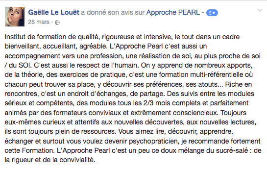 Avis_Formation_psychotherapie_Approche_PEARL_Gaëlle