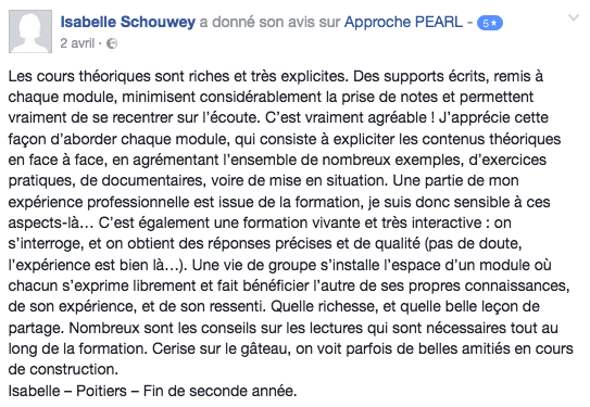 Avis_Formation_psychotherapie_Approche_PEARL_IsabelleS